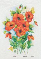 "Бумага для декупажа рисовая ""Маки №3"" (290х210 мм)"