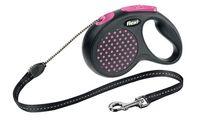 """Поводок-рулетка для собак """"Design"""" (розовый, размер M, до 20 кг/5 м)"""