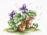 "Вышивка крестом ""Мышки"" (175х140 мм)"