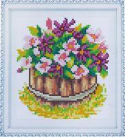 "Алмазная вышивка-мозаика ""Корзина цветов"" (150х170 мм; арт. 7714758 )"