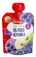 """Детское пюре Semper """"Яблоко и черника"""" (90 г)"""