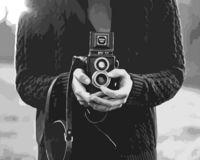 """Картина по номерам """"Съемка на пленку"""" (400х500 мм)"""