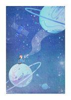 """Зеркало настольное """"Космос. Голубые планеты"""" (арт. KW006-000035)"""
