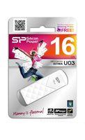 USB Flash Drive 16Gb Silicon Power Ultima U03 (White)
