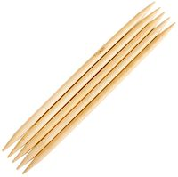 Спицы для вязания чулочные (бамбук; 7 мм; 5 шт)
