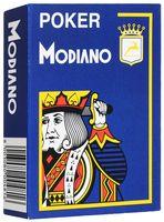 """Карты для покера """"Modiano Poker"""" (синяя рубашка)"""
