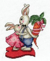 """Вышивка крестом """"Любовь-морковь"""" (120х160 мм)"""