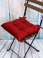 "Подушка на стул ""Simplex"" (42х42 см; бордовая)"