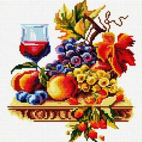 "Алмазная вышивка-мозаика ""Натюрморт с виноградом"" (300х300 мм)"