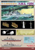"""Крейсер """"H.M.S. York Type 42 Destroyer Batch 3"""" (масштаб: 1/700)"""