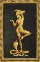 """Вышивка бисером """"Девушка с коброй"""" (150х280 мм)"""