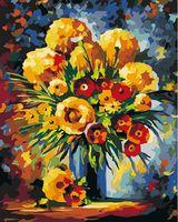 "Картина по номерам ""Желтые и красные цветы"" (400х500 мм)"