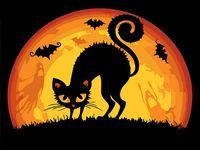 """Картина по номерам """"Хэллоуинская кошка"""" (165х130 мм)"""