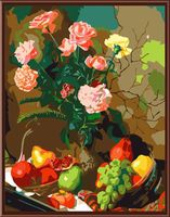 "Картина по номерам ""Натюрморт с фруктами и цветами"" (400х500 мм)"