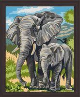 """Картина по номерам """"Слоны"""" (400х500 мм)"""