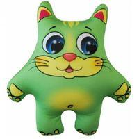 """Игрушка-антистресс """"Кот"""" (28 см; зелёный)"""
