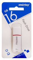 USB Flash Drive 16Gb SmartBuy Crown (White)