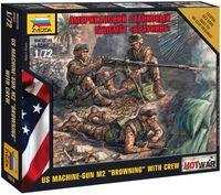 """Набор миниатюр """"Американский станковый пулемет Браунинг"""" (масштаб: 1/72)"""