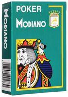 """Карты для покера """"Modiano Poker"""" (зелёная рубашка)"""