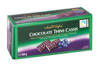 """Шоколад темный """"Chocolate Thins Cassis"""" (200 г)"""