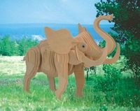"""Сборная деревянная модель """"Маленький слон"""""""