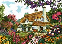 "Вышивка крестом ""Цветы у дома"" (290x400 мм)"