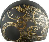 Шапочка для плавания PU 303 (чёрно-золотая)