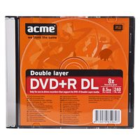 Диск DVD+R 8,5GB двухслойный 2,4x (100 штук)