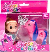 """Кукла """"Принцесса и пони"""" (9 см)"""