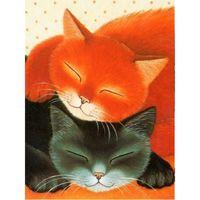"""Алмазная вышивка-мозаика """"Спящие коты"""""""