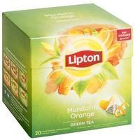 """Чай зеленый """"Lipton. Mandarin Orange"""" (20 пакетиков)"""