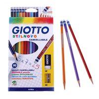 "Цветные карандаши ""STILNOVO CANCELLAB"" (10 штук + ластик + точилка)"
