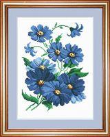 """Вышивка крестом """"Синие цветочки"""" (арт. 733)"""