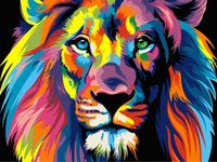 "Картина по номерам ""Ваю Ромдони. Радужный лев"" (400х500 мм)"