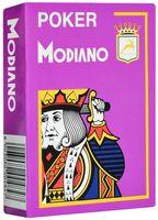 """Карты для покера """"Modiano Poker"""" (фиолетовая рубашка)"""