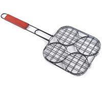 Решетка-гриль металлическая для гамбургеров (21,5х21,5х49 см)