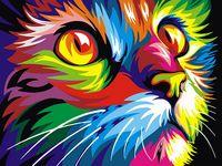 "Картина по номерам ""Взгляд кошки"" (300х400 мм)"