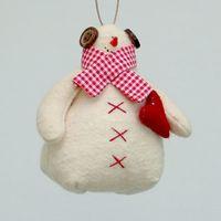 """Кукла """"Снеговик"""" (с красным сердцем)"""