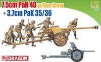 """Набор миниатюр """"7.5cm PaK 40 w/Gun Crew & 3.7cm PaK 35/36"""" (масштаб: 1/72)"""