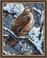 "Картина по номерам ""Гордая птица"" (400х500 мм)"