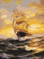 """Картина по номерам """"Корабль в шторм"""" (400х500 мм)"""