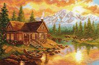 """Вышивка крестом """"Вечер в горах"""""""