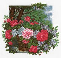 """Вышивка крестом """"Цветы радости"""" (340x360 мм)"""