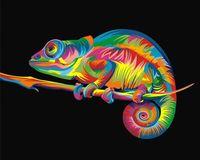 "Картина по номерам ""Ваю Ромдони. Радужный хамелеон"" (400х500 мм)"