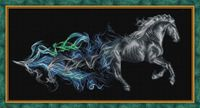 """Алмазная вышивка-мозаика """"Конь в дыму"""" (600х300 мм)"""