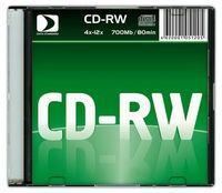 Диск CD-RW 700Mb 12х Data Standard slim