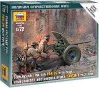 "Набор миниатюр ""Противотанковая пушка ПАК-36 с расчетом"" (масштаб: 1/72)"