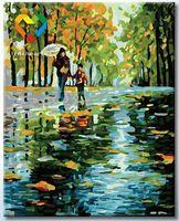 """Картина по номерам """"С мамой под зонтом"""" (400x500 мм; арт. HB4050119)"""