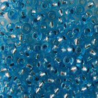 Бисер прозрачный с серебристым центром №08265 (голубой; 10/0)