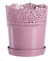 """Цветочный горшок """"Dentelle"""" (16 см; лиловый)"""